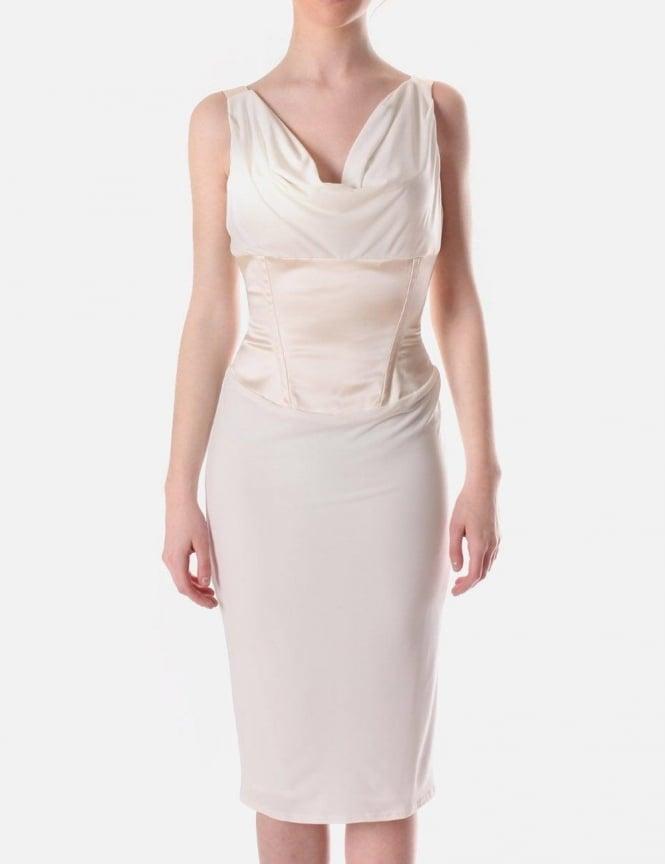 Cream Pencil Dress