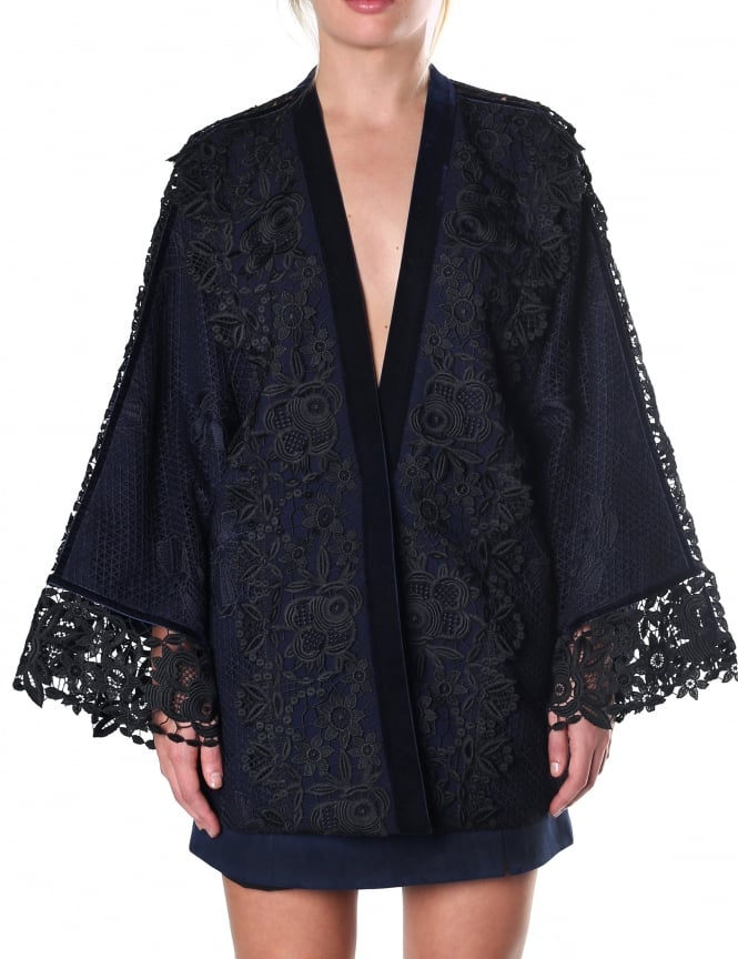 Three Floor Women's Embroidered Kimono