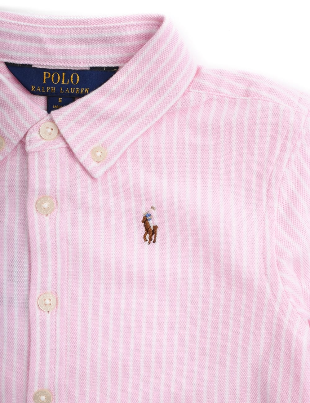 Lauren Long Sleeve Shirt Girls Polo Ralph Striped Toddler TF1JK3ucl