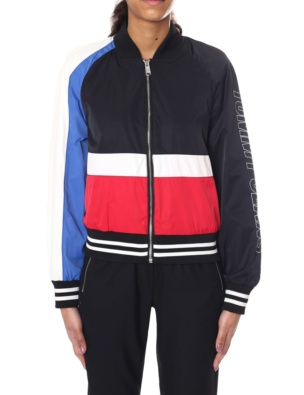 Tommy Hilfiger Colour Blocked Women S Bomber Jacket