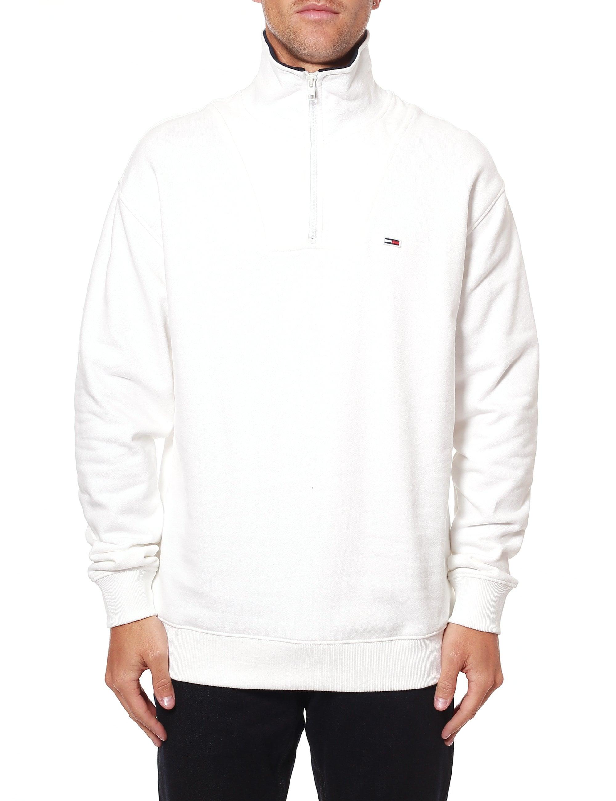 Tommy Jeans Mens TJM Zip Mock Neck Sweatshirt