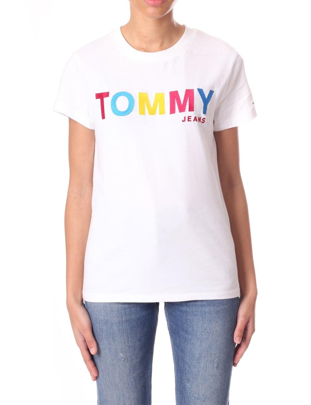 d07a367f81 Tommy Hilfiger Multi Colour Logo Women s T-Shirt
