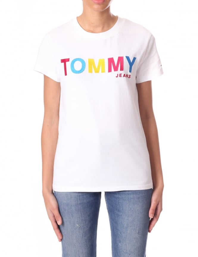 Tommy Hilfiger Multi Colour Logo Women's T-Shirt