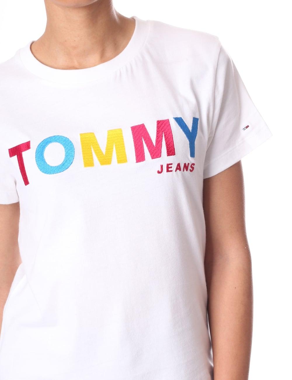 d6ada1e7d6 ... Tommy Hilfiger Multi Colour Logo Women s T-Shirt. Tap image to zoom. Multi  Colour Logo Women  039 ...