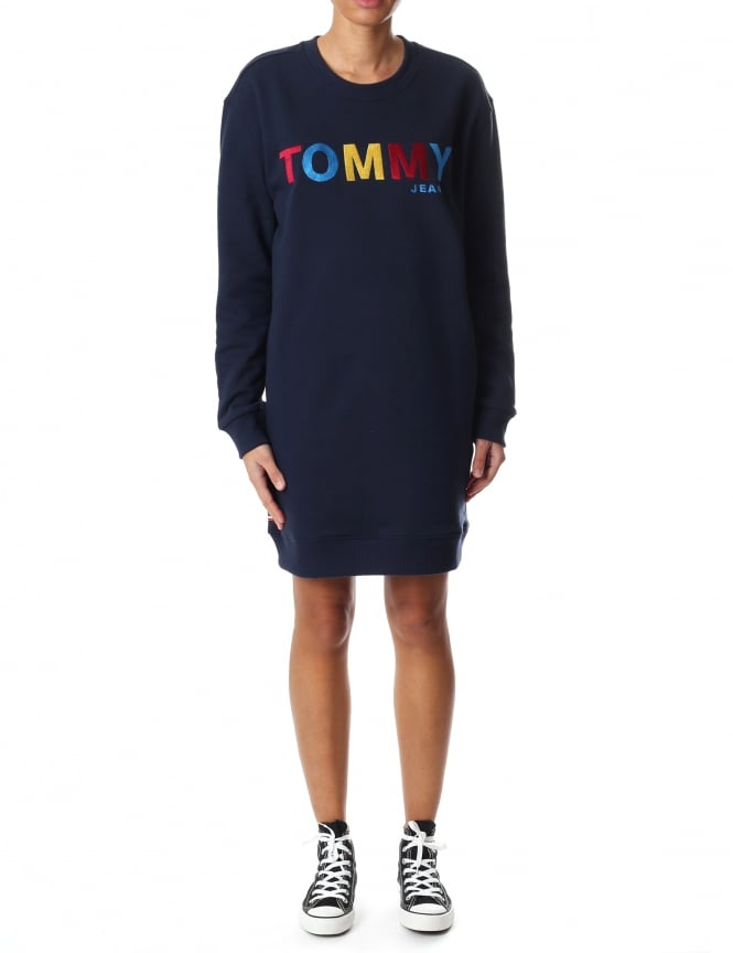 Tommy Hilfiger Multi Coloured Women's Logo Sweat Dress