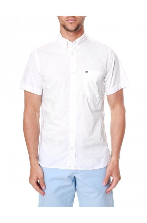 7f3516fe Poplin Short Sleeve Slim Fit Shirt. Tommy Hilfiger ...