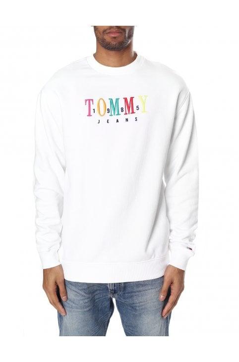 b7ceaca25 TJM Graphic Crew Sweatshirt. Tommy Hilfiger Men s TJM Graphic Crew  Sweatshirt Classic White