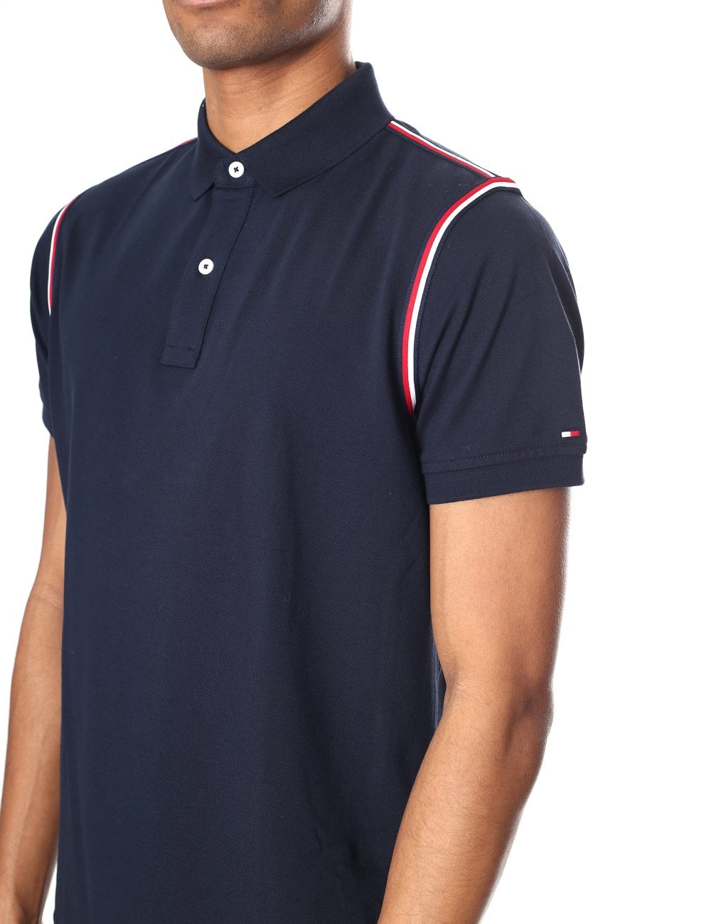 c89f964c Tommy Hilfiger Men's Tommy Tape Slim Polo Top