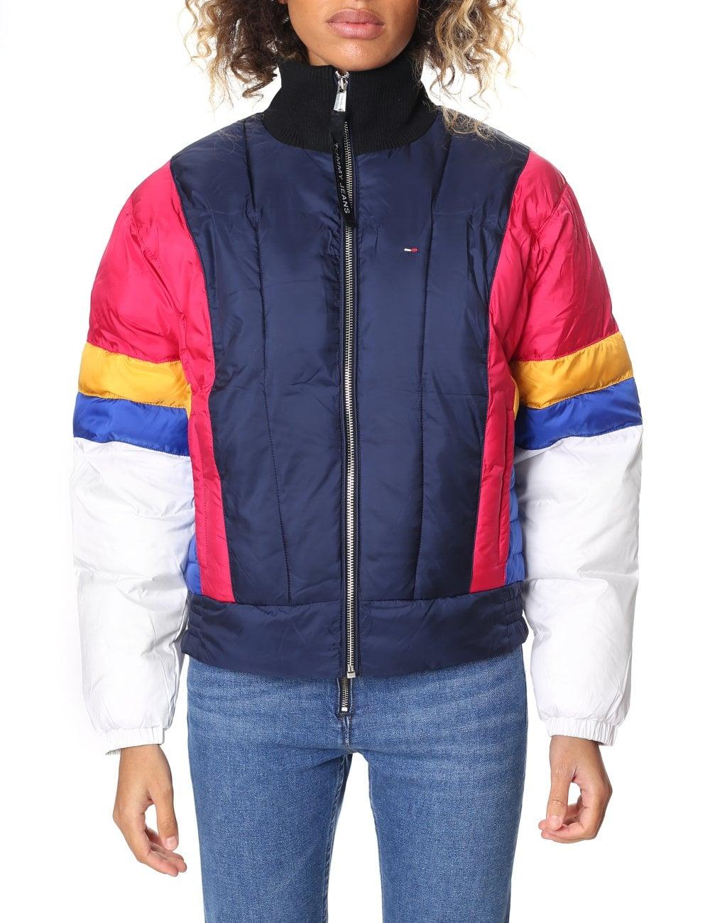 Tommy Hilfiger Women s Colour Block Zip Through Jacket e6e6ea8e53