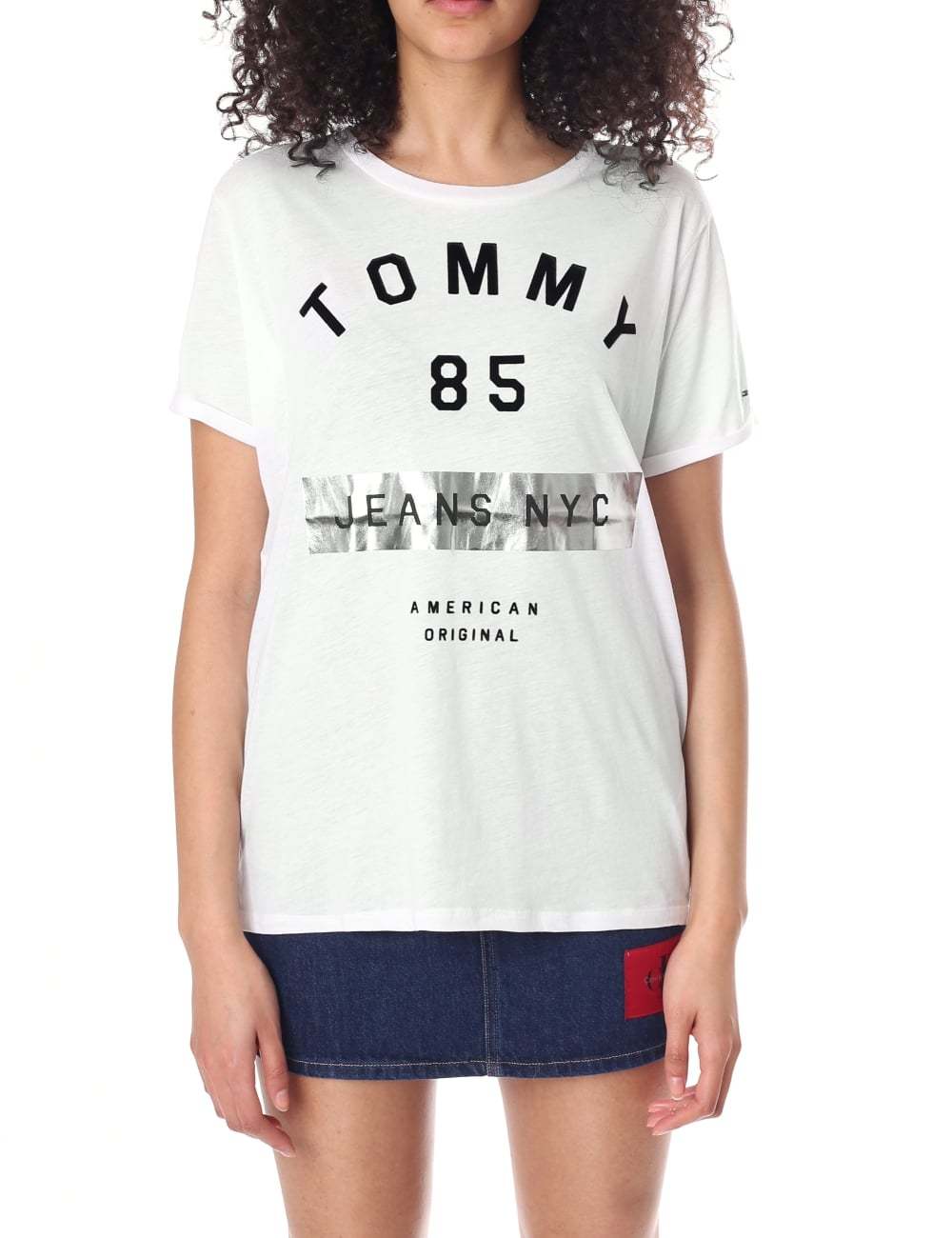 9ff35fe80 Logo Tee. Women's Foil ... Tees & Knits White – Tommy Hilfiger ...