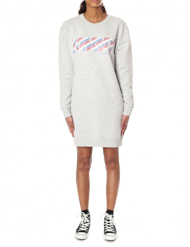 Tommy Hilfiger Women's Logo Sweatshirt Dress