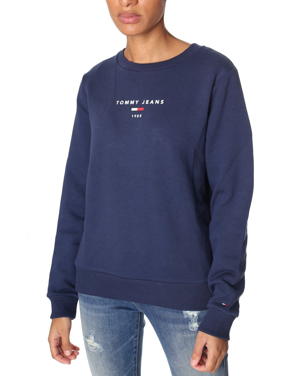 c6d80939d Home  Tommy Hilfiger Women s Long Sleeve Clean Logo Sweatshirt. Tap image  to zoom. Women  039 s Long Sleeve Clean Logo Sweatshirt