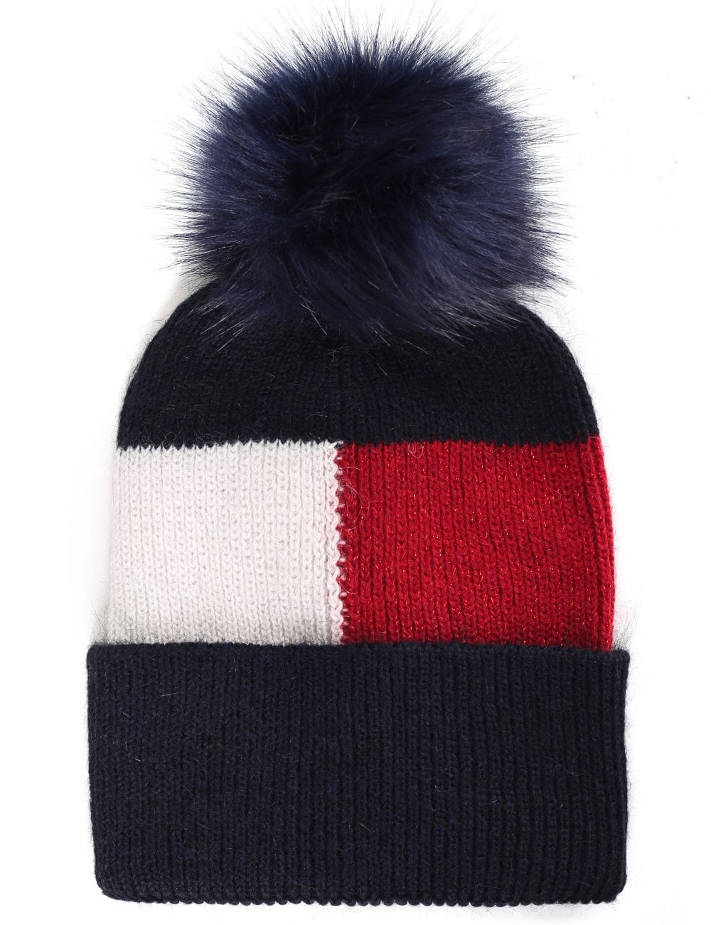 Tommy Hilfiger Women s Luxury Colorblock Beanie Corporate 352f6a03dc1