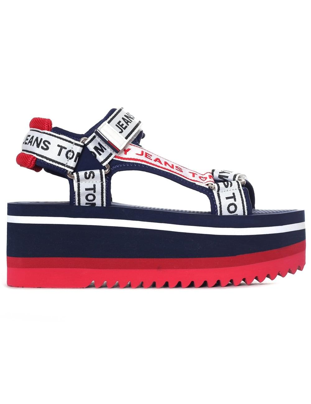 e16ed1943bf0 Tommy Hilfiger Women s Tape Detail Technical Sandal