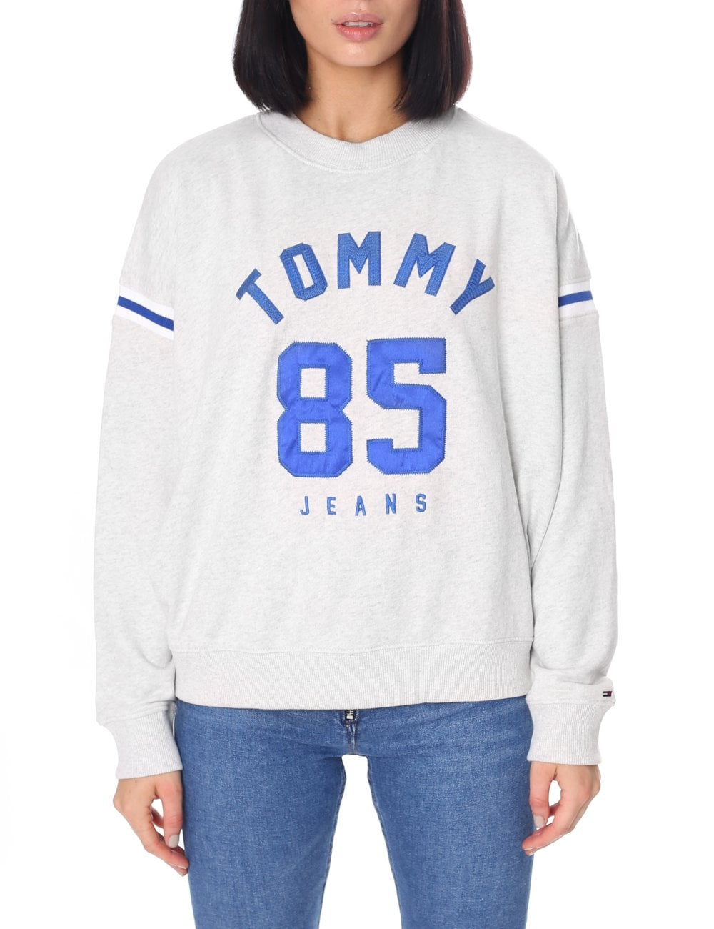 Tommy Hilfiger Women s Tommy 85 Logo Sweat Top 04db8ddeb1d2