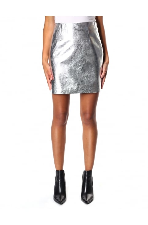 Women's Viola Mini Leather Skirt