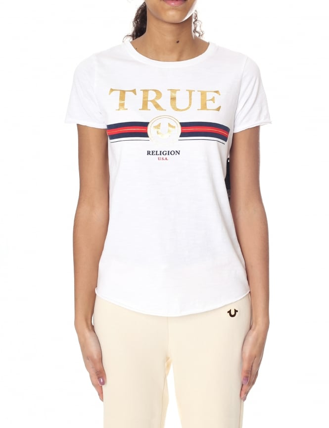 True Religion Boxy Women's Crew Neck Artwork Tee