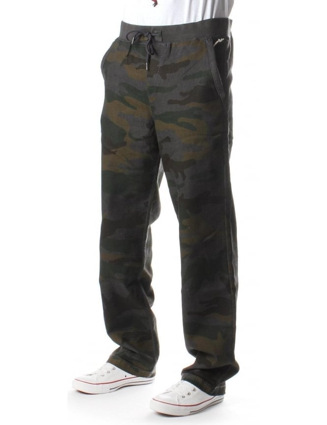 True Religion Contrast Stitch Men's Sweat Pants Camo