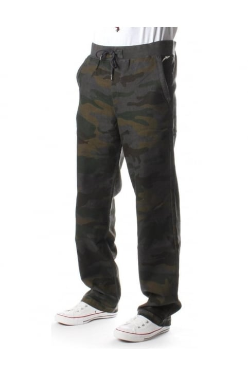 Contrast Stitch Men's Sweat Pants Camo