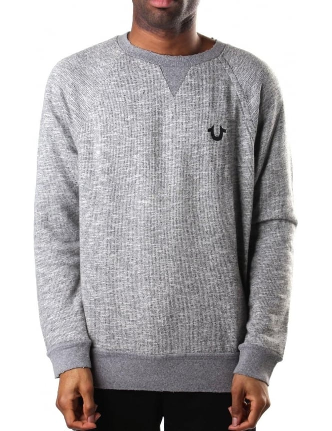 True Religion Elongated Men's Sweat Top Heather