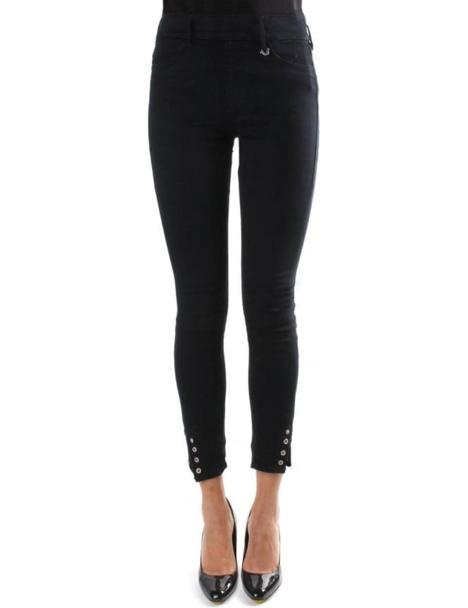 3fb3161a303b8 True Religion Eyelet Women's Runway Leggings Black