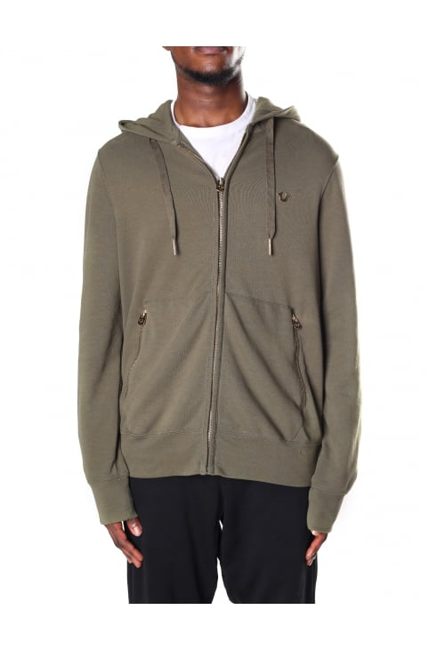 Hooded Men's All Metal Zip Jacket