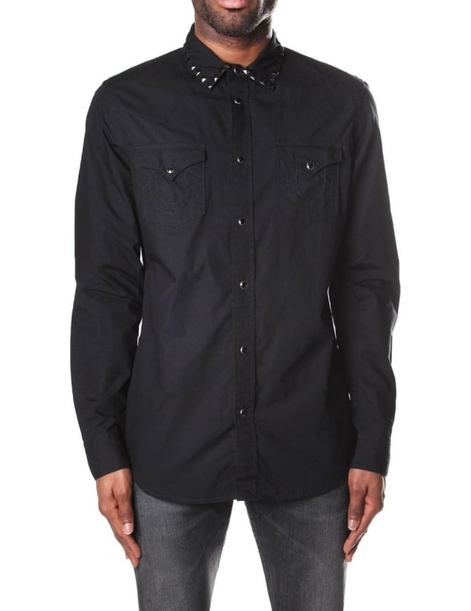 True Religion Jake Western Men's Embelished Shirt