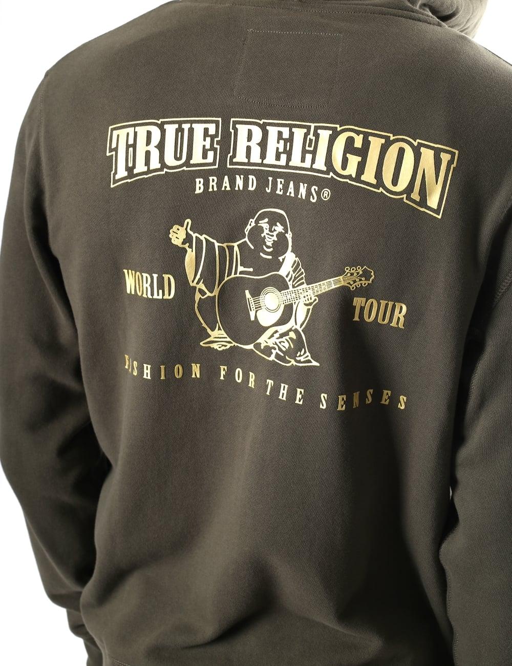 b65e09657e0 True Religion Men s Metallic Double Puff Hoodie