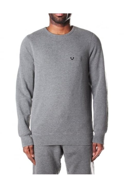 Men's Metallic Logo Crew Neck Sweat Top