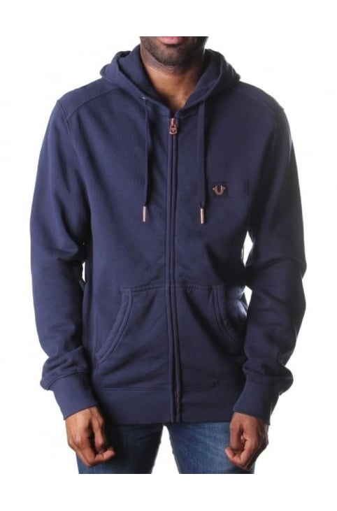 Men's Metallic Logo Horseshoe Zip Hoodie