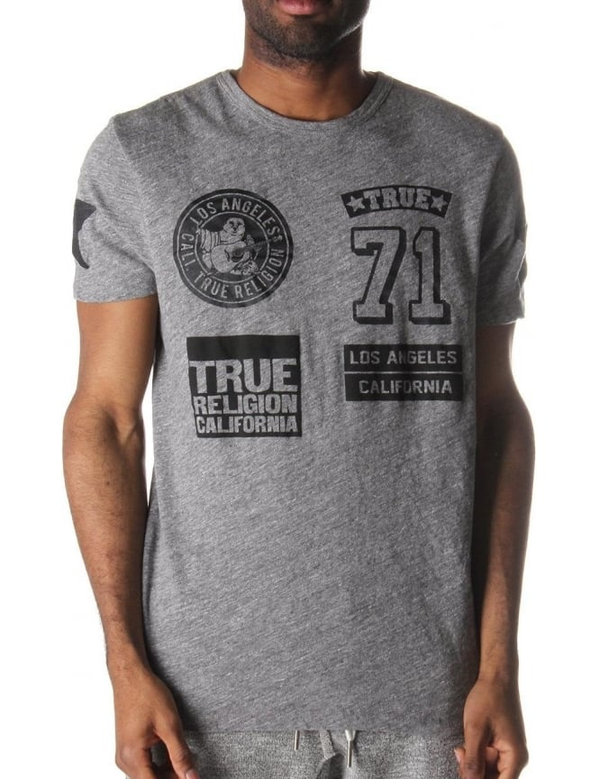 true religion multi logo shirt