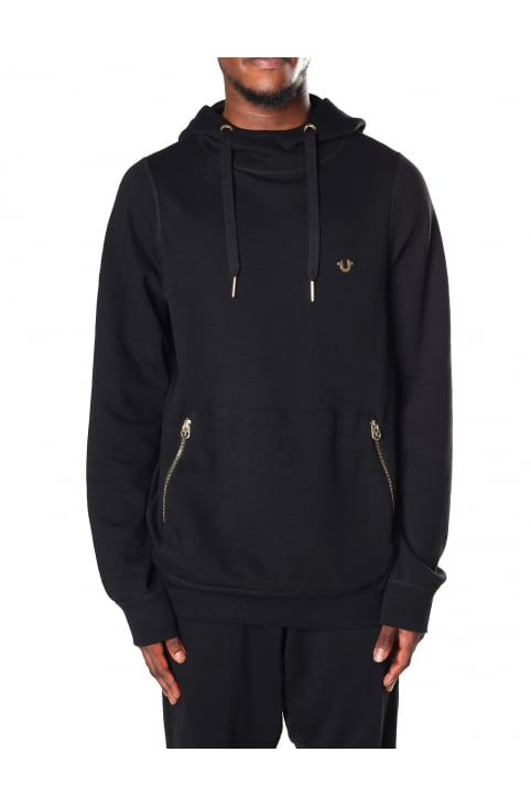 Pouch Pocket Men's Zip Detail Hoodie