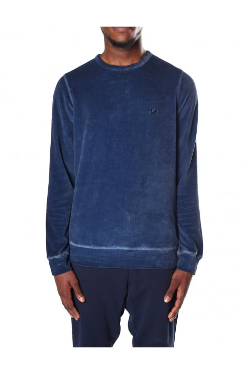 Velour Men's Crew Neck Sweat Top