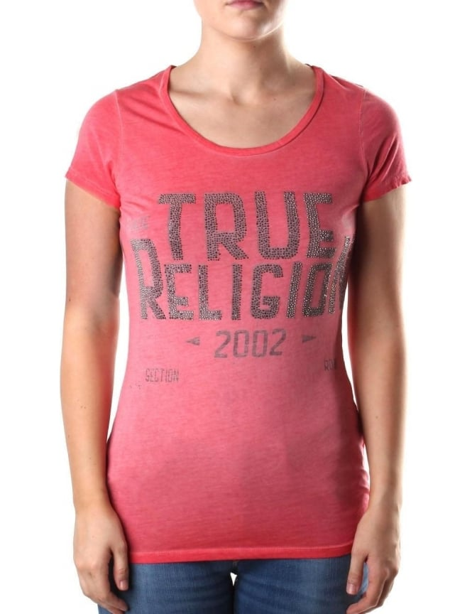 True Religion Women's Crew Neck Tee