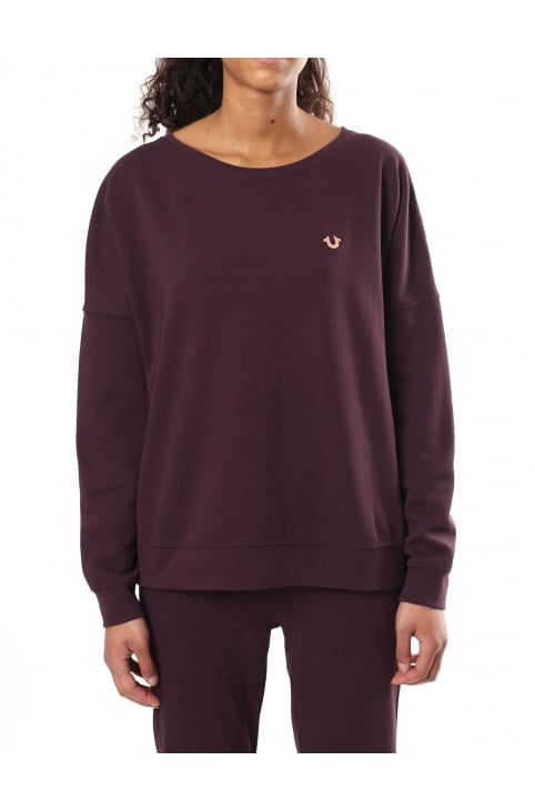 Women's Double Face Crew Sweat Top