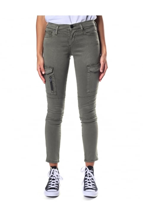 Women's Halle Mid Rise Super Skinny Cargo Trousers