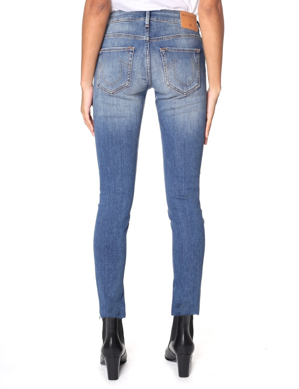 Rise Jean Mid para mujer Super Halle Skinny UpawpZ