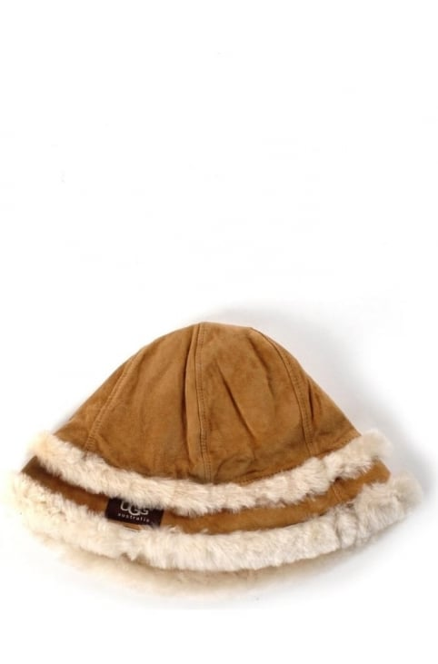 City Women's Bucket Hat With Shearling Chestnut