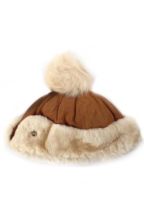 Heritage Women's Up Flap Hat With Pom Chestnut