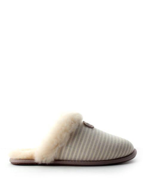 Slippers UGG Femme Scuffette Ii Stripe Oyster