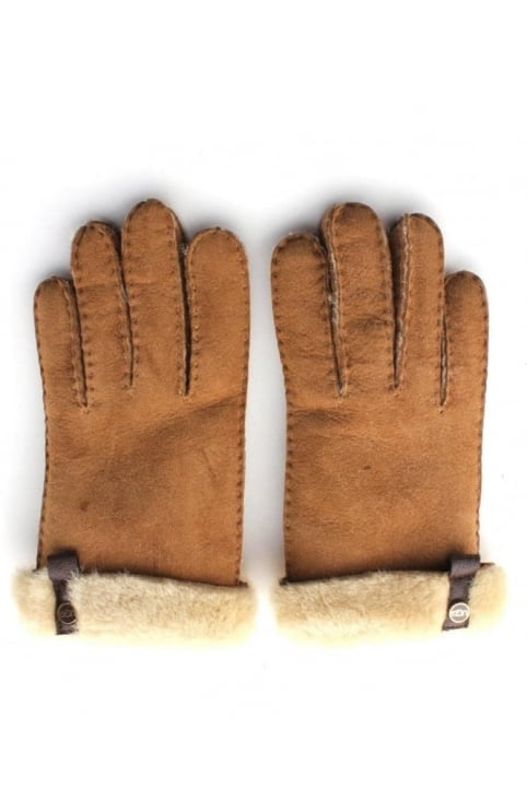 Tenney Women's Leather Trim Glove Chestnut