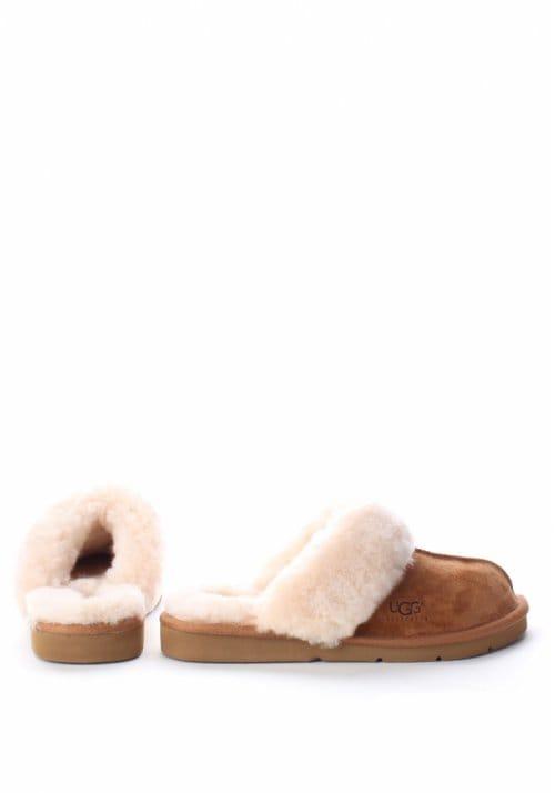 bb4b341f6f9 UGG Cozy II Fur Trim Women's Slipper Chestnut