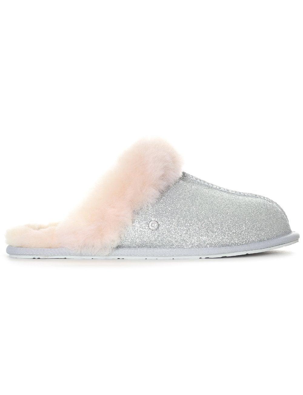 095b79e37 UGG Women's Scuffette II Sparkle Slipper Silver