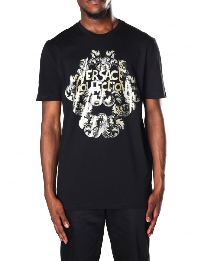 Versace Collection Crest Logo Men's Crew Neck Tee