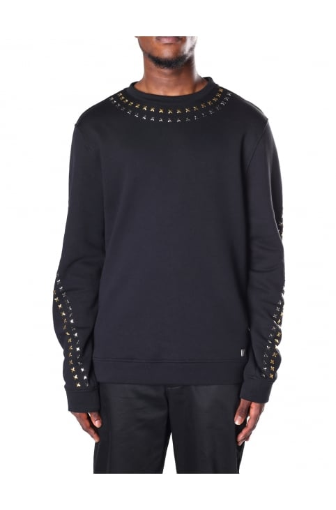 Cross Studded Men's Sweat Top