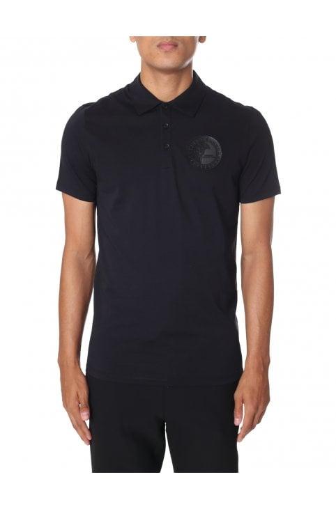 Versace Collection Men/'s Black Pocket Short Sleeve Polo Shirt