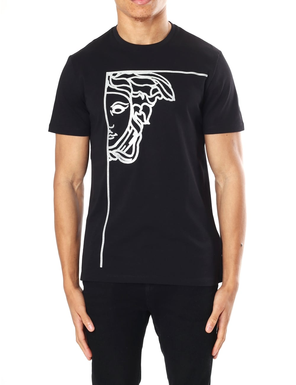 Versace Collection Men s Medusa Logo Crew Neck Short Sleeve T-Shirt 7224533685b