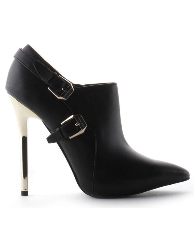 cfd24b4e9f Versace Jeans Buckle Detail Women's Heel Shoe Black