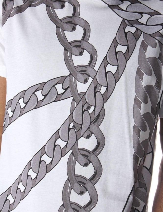 9bc013ad Chain Print Men's T-Shirt White