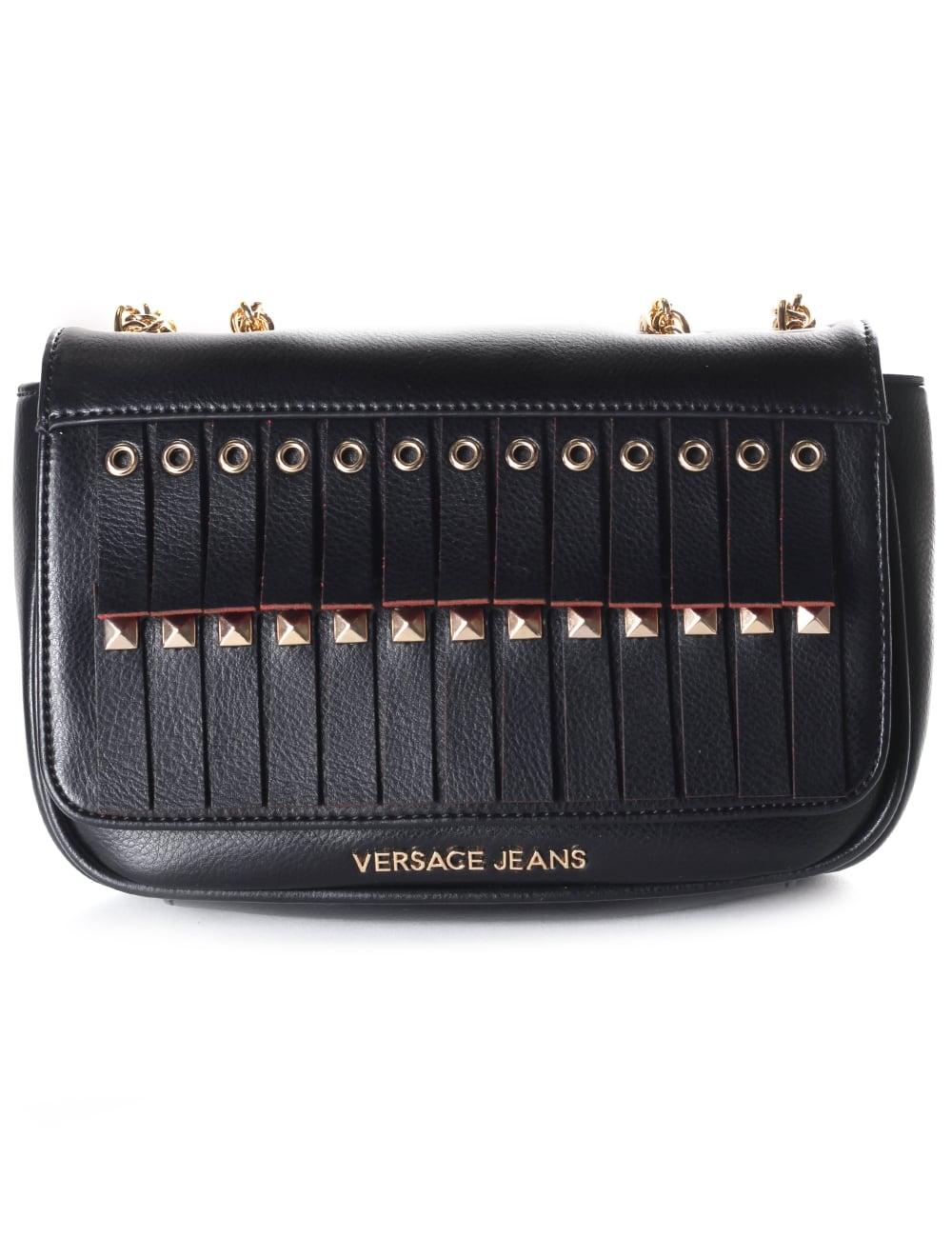 87b5c1f1a6 Versace Jeans Chain Strap Women s Tassel Crossbody Bag